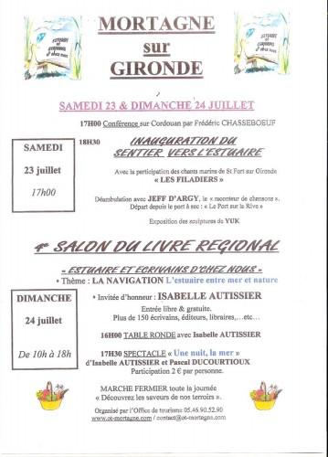 Invitation au salon du livre r gional de mortagne sur gironde 24 juillet 2011 la luciole de sophie - Invitation salon du livre ...